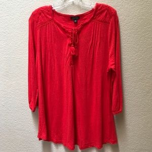 Lucky Brand Blouse Boho XXL Peasant Top Shirt